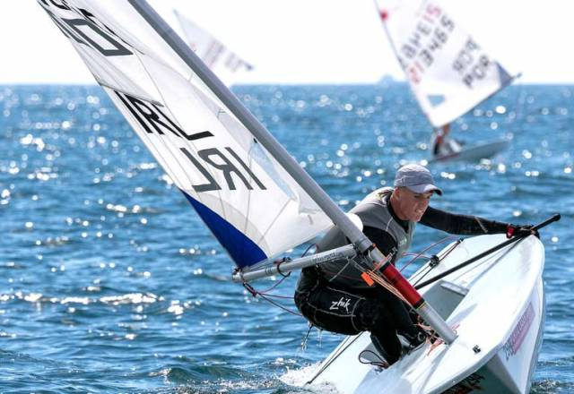 Finn Lynch in Leading Pack of Laser Europeans in Portugal After Day One, Jamie McMahon Fifth in Radials
