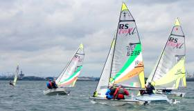 RS Feva championship racing on Dublin Bay