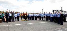The Duke of Kent was greeted by Kilrush's volunteer lifeboat operations team, lifeboat crew  members and the local fundraising branch