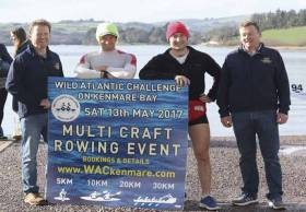Olympic silver medalists from Rio, Gary and Paul O'Donovan, (pictured centre) launch the new Wild Atlantic Challenge' on Kenmare Bay in County Kerry