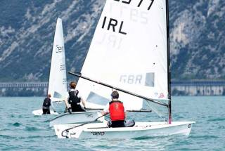 Paul McMahon competing in the RS Aero in Italy