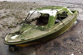 The logistics of handling the large amounts of fibreglass hulls from abandoned or derelict vessels poses a significant challenge