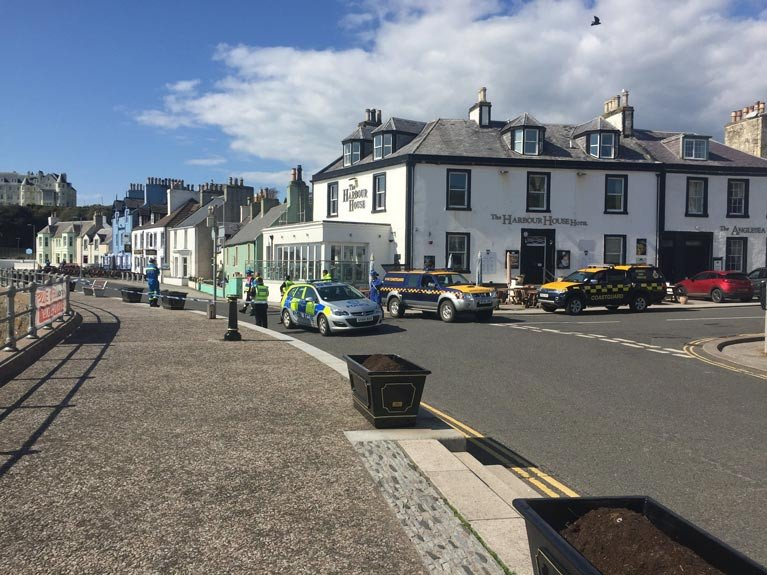 Royal Navy Carry Out Controlled Explosion on WW II Bomb Caught in Fishing Net at Portpatrick