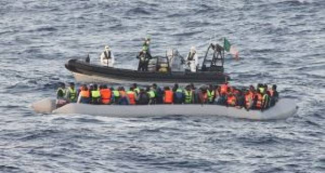 Paul Kehoe refuses to comment on criticism from Italian authorities of LE 'Niamh' in not entering territorial waters of Libya during a refugee rescue operation in August 2015. Above a RIB dispatched from LE Samuel Beckett assists a rescue last year.