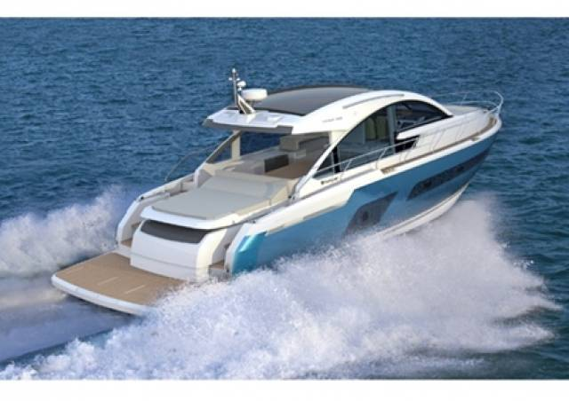 CGI of the new Fairline Targa 53 OPEN