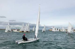 The Final Fling Regatta in Dun Laoghaire Hatrbour marked the end of the Summer Season for Dinghy Sailing on Dublin Bay