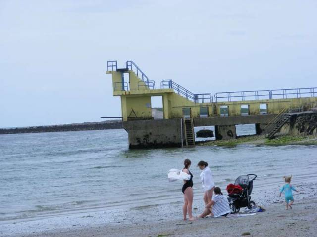 Blackrock diving board in Galway where a swim ban has been lifted