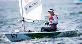 Annalise Murphy sails her winning Laser Radial dinghy at Rio 2016