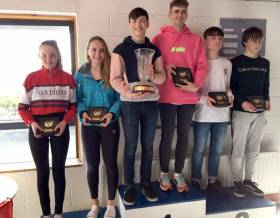 420 Gold fleet prizewinners in Schull. See results below