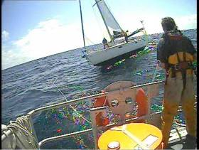 Ballycotton RNLI tows a stricken yacht back to Cork in one of the lifeboat station's longest ever callouts