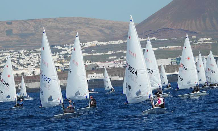 The ILCA 6 fleet at Lanzarote