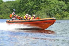 Lough Ree RNLI on exercise