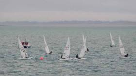 Lasers racing at Howth