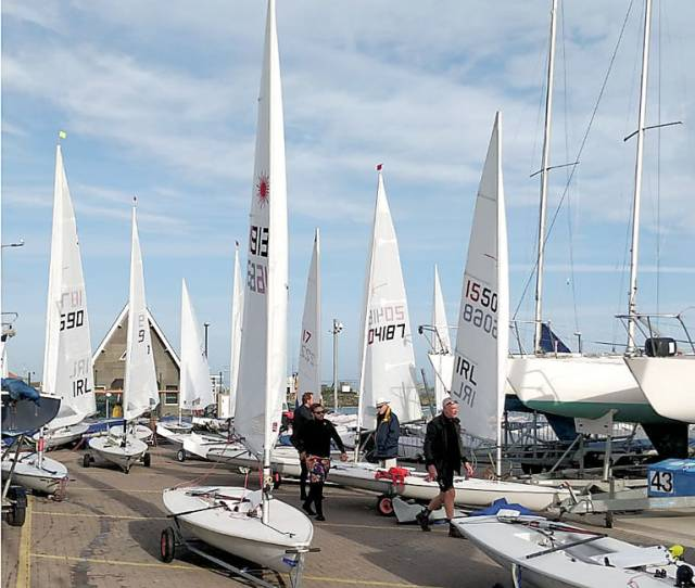 Tricky First Laser Dinghy Day for the Howth Frostbites