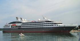 The 142m L'Austral - sister ship of Le Boréal and Le Soléal – has been in service since 2011