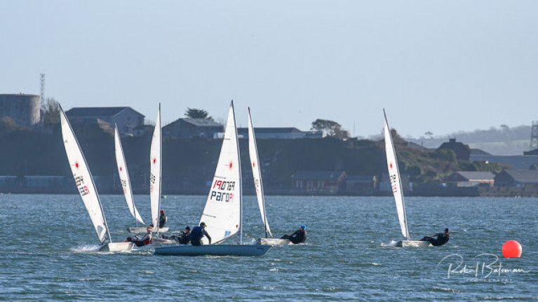 Sailors in shot (left to right) Chris Bateman, James Long, Paul O'Sullivan, Brendan Dwyer, Fionn Lyden