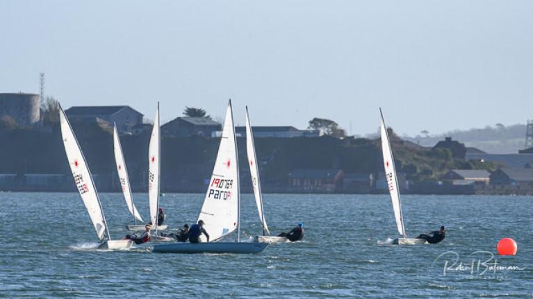 Sailors in shot (left to right) Chris Bateman, James Long, Paul O'Sullivan, Brendan Dwyer, Fionn Lyden