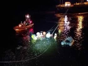 Youghal RNLI help to recover  the yacht