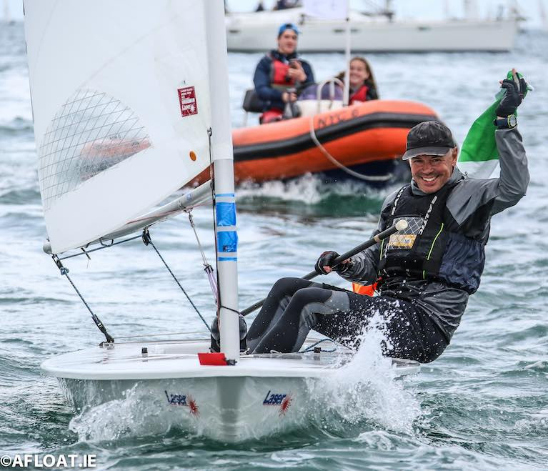 The National Yacht Club's Mark Lyttle was crowned Laser Grand Master World Champion on home waters in 2018