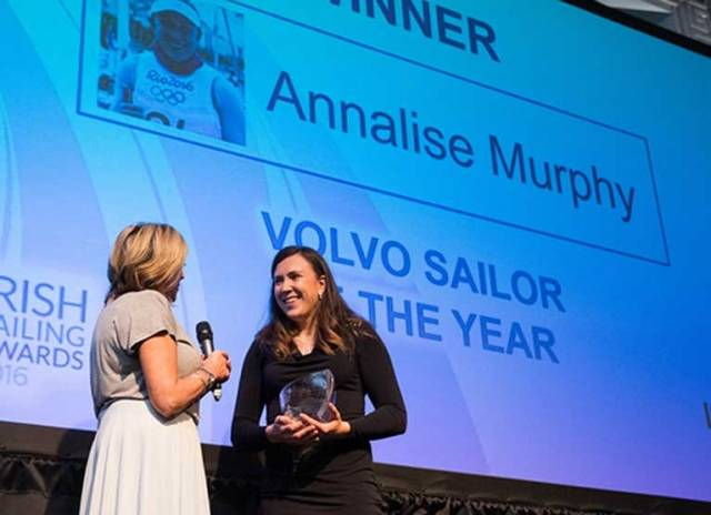 Oympic silver medallist Annalise Murphy was crowned Sailor of the Year at the RDS last week. The 26–year–old Dubliner goes in search of the Women's World Moth title in July