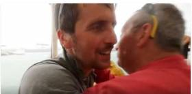 Tom Dolan is congratulated in Martinique. Scroll down for video