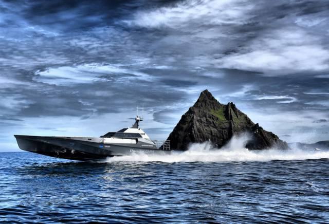 Thunder Child is attempting to set a new Round Ireland & Rockall powerboat speed record