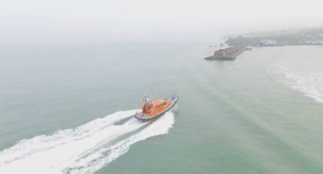 Watch Spectacular Drone Video Of Relief Lifeboat Arriving In Wicklow