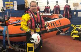 Diarmaid Bird recently at the RNLI College in Poole, Dorset