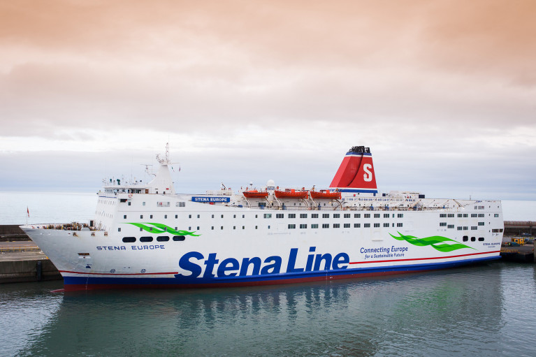 Increased sailings by Stena Europe on the St. Georges Channel route of Fishguard-Rosslare
