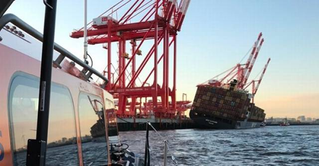 Crew from Lifeboat Capture Gut-Wrenching Footage As Containership tips Over at Liverpool2