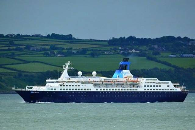 Following Fred Olsen's Boudicca that marked the first cruise caller of 2017 to Dublin Port, the capital is to welcome Saga Cruises smaller Saga Pearl II on St. Patrick's Day. The 449 passenger ship became the first cruiseship to visit Warrenpoint. Co. Down in recent years.