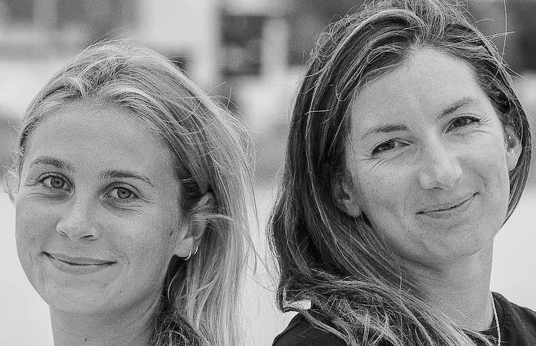 Catherine Hunt (left) and Pamela Lee are World Record holders for speed sailing round Ireland