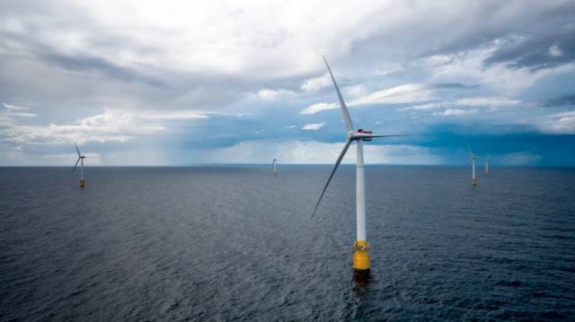 The Hywind Scotland floating windfarm off Peterhead