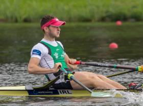 Paul O'Donovan, stroke of the Ireland lightweight double. Picture: Kaspars Puspurs.