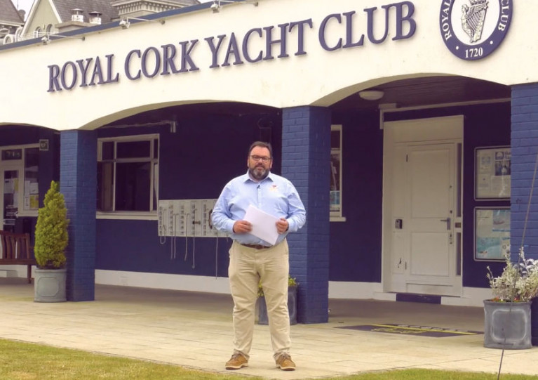 Royal Cork Admiral Colin Morehead at the clubhouse in Crosshaven this past Monday 8 June