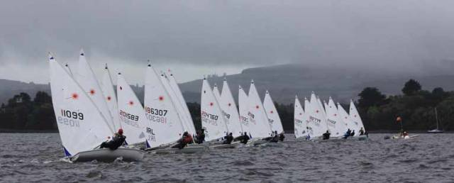 A start of the Radial Championships at Lough Derg Yacht Club