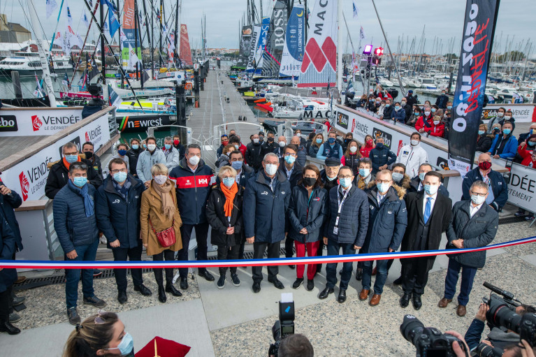 The Vendee Globe village is officially opened in in Les Sables d'Olonne
