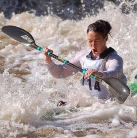 Jenny Egan in action at the Liffey Descent.