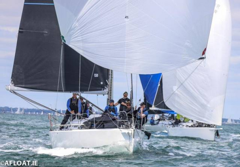 J/109s in the Volvo Dun Laoghaire Regatta in Dublin Bay. Racing in Irish and nearby waters keeps the budget manageable, but aspirations to international competition and Olympic participation immediately activate a built-in travel cost before any further expenditure is taken into account