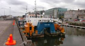 Water injection dredger 'Jetsed' pictured in 2014 which returned to Cork this month for further dredging works. Afloat adds that another much larger Dutch flagged dredger, Volvox Olympia is also involved in such operations but downriver of the natural harbour.