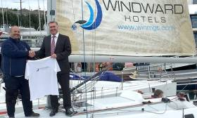 Dave Cullen, skipper of the J109 Euro Car Parks for the Round Ireland race with sponsor Patrick Coyle, MD of Windward Management