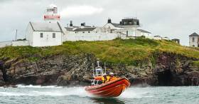 Crosshaven RNLI Inshore Lifeboat off Roches Point in Cork Harbour