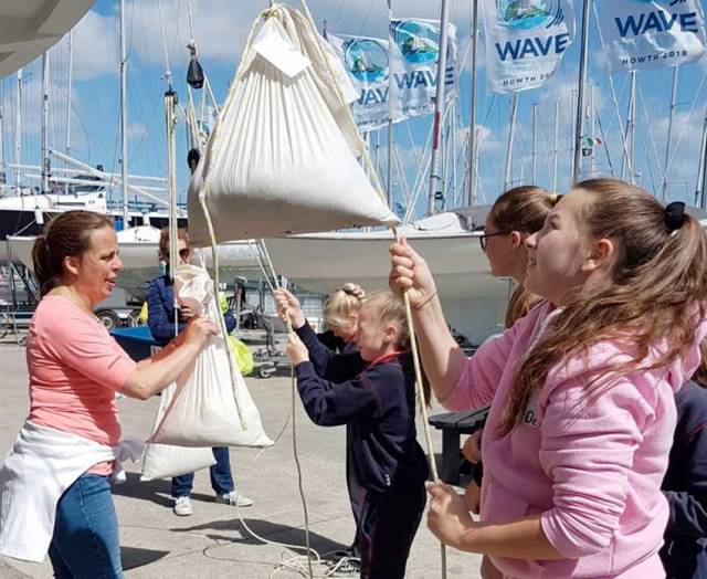 Primary schoolchildren explore the physics of sailing in Howth