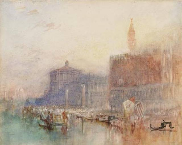 Turner's 'The Doge Palace', Venice which forms part of the exhibition (including lecture) this month at the National Gallery of Ireland.