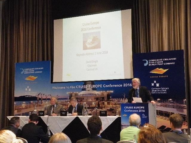 Cruise Europe chairman, Captain Micheal McCarthy addresses delegates at the opening of the annual conference which took place in Dublin for the first time this week