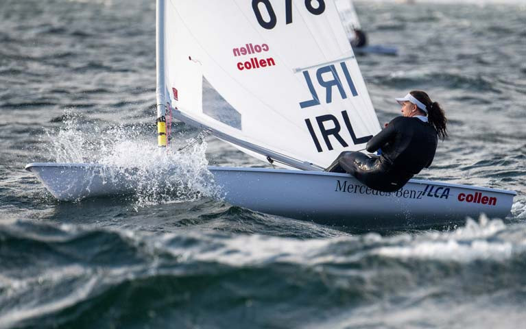 Annalise Murphy competing at the Radial Worlds in Melbourne