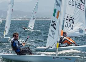 Fionn Lyden of Baltimore in action on day two of the Laser Worlds in Mexico