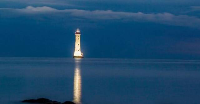 Rising to 34-metres above sea-level stands the Haulbowline Lighthouse, Carlingford Lough, which will remain lit up throughout August to remember all those who have lost their lives in the lough.