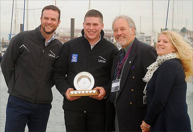 From left to right: UKSA CEO Ben Willows, UKSA student and Sea Cadet Jake Strachan, Fisgard Association representative Stephen White and UKSA Cadet Manager Emma Baggett