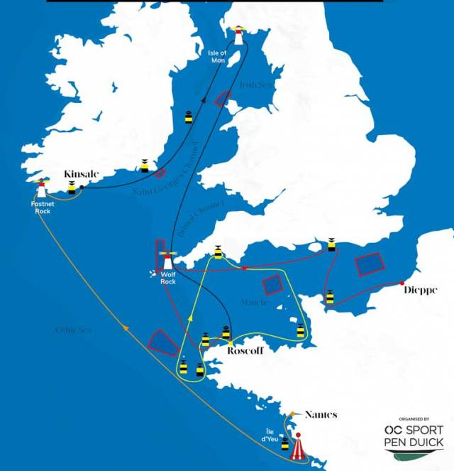 The 2019 Figaro course features racing in Irish waters